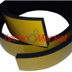 EPDM Mosrubber rechthoekig snoer| 12x25 mm | Tolerantie +-1,30x1,60 mm | Lengte 50 mtr