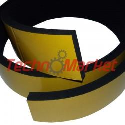 EPDM Mosrubber rechthoekig snoer | 2x20 mm |Tolerantie +-0,50x1,60 mm | Lengte 100 mtr