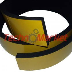 EPDM Mosrubber rechthoekig snoer| 3x25 mm | Tolerantie +-0,70x1,60 mm | Lengte 25 mtr